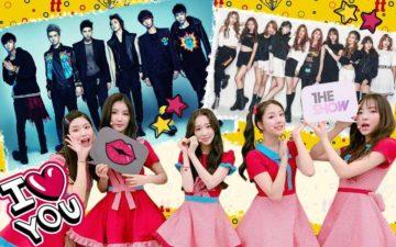 k-pop na todateen: montagem com 3 grupos