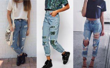 calça jeans boyfriend