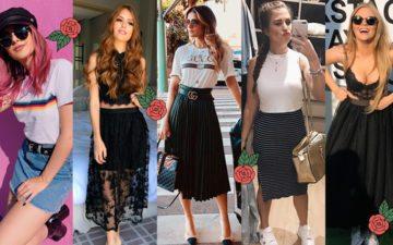 Looks com saia: cinco youtubers usando saia