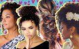 Opções de penteados de 15 anos
