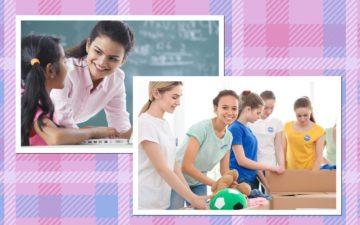 Profissões que ajudam as pessoas: professor e voluntário