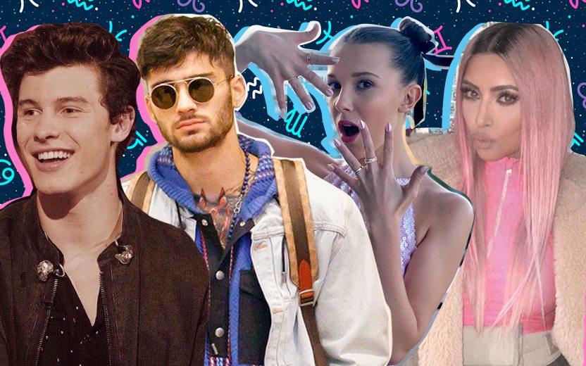 Signos das celebridades: Shawn Mendes, Zayn, Millie Bobby Brown e Kim Kardashian