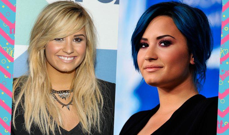 Cores de cabelo da Demi Lovato