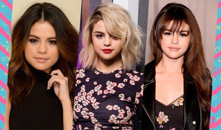 Cores de cabelo da Selena Gomez