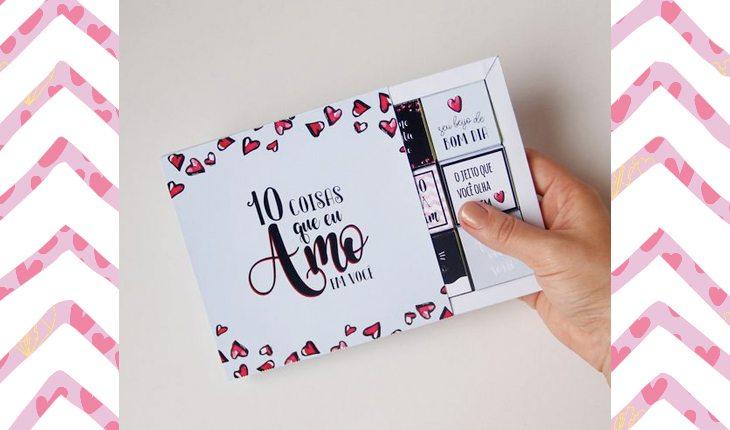 um dos cartões diferentes e baratinhos para você dar no Dia dos Namorados