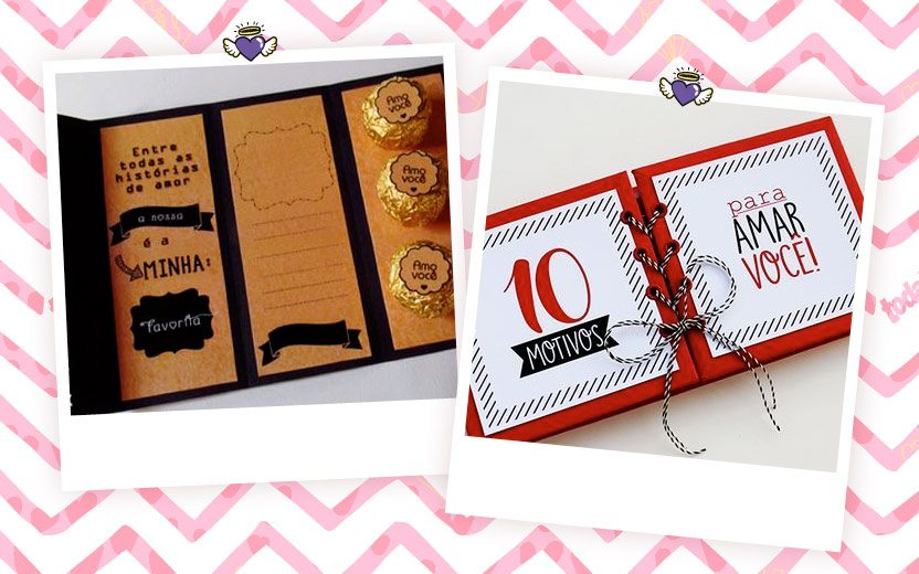 Ideias de cartões diferentes e baratinhos para o Dia dos Namorados