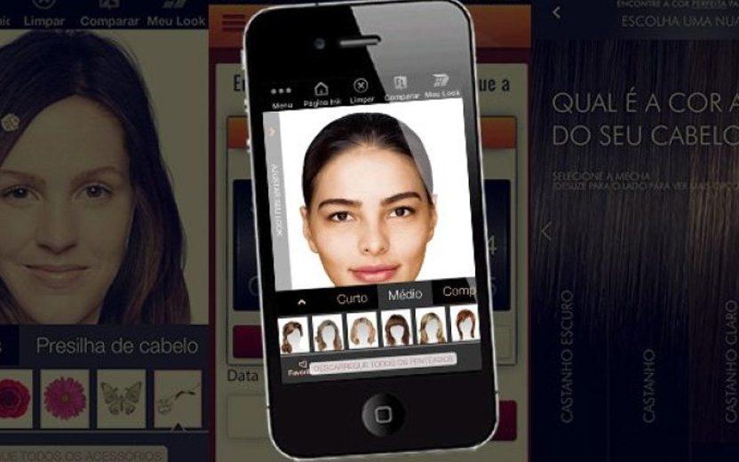 Aplicativos que simulam cortes de cabelo