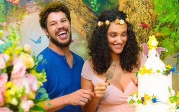 José Loreto, Débora Nascimento e a filha