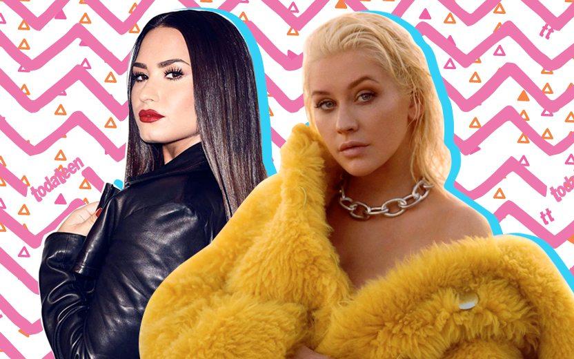 Demi Lovato e Christina Aguilera lançam música juntas