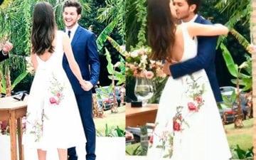 casamento civil de Camila Queiroz e Klebber Toledo