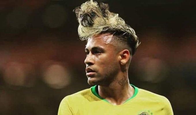 Meme com corte de cabelo do Neymar