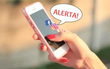alerta do instagram e facebook
