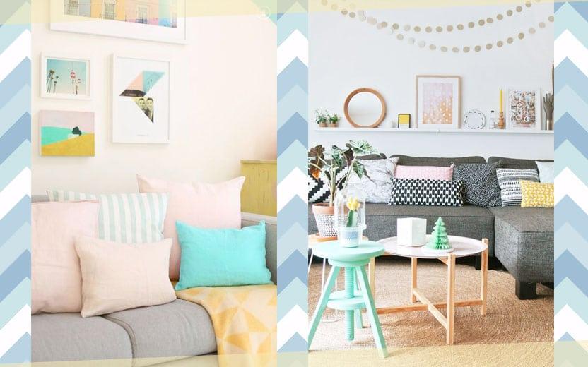 decoração com cores pastel