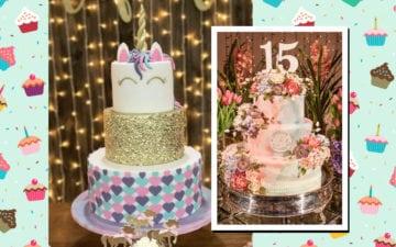 Modelos de bolo de 15 anos