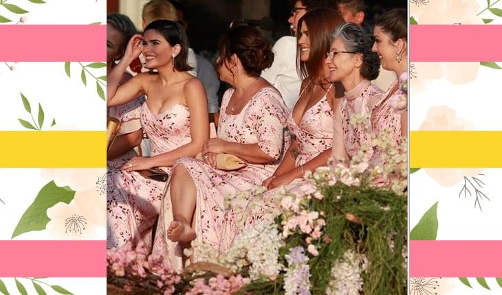 Madrinhas do casamento sentadas