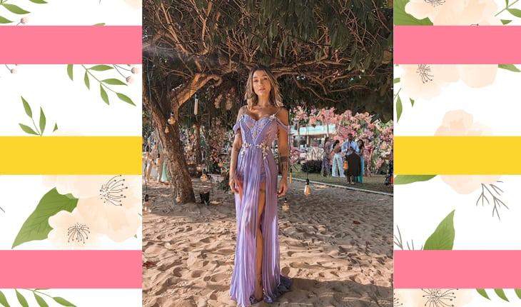 Gabriela Pugliesi vestido vestido lilás