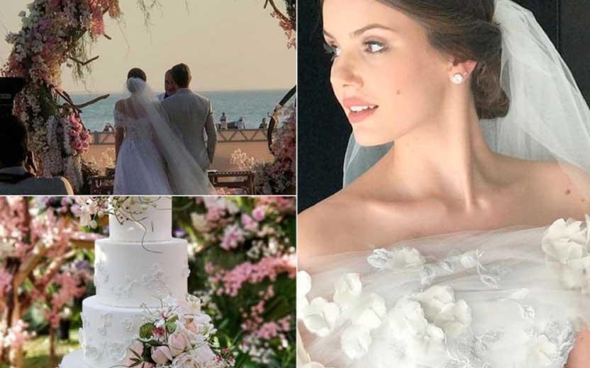 Camila Queiroz e Klebber Toledo se casam