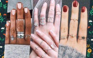 20 combinações de mix de anéis para você se inspirar!