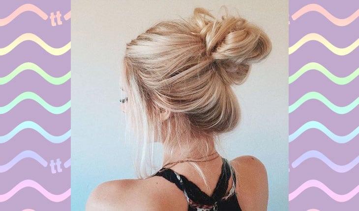 penteados com coque