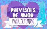 previsões do amor para setembro