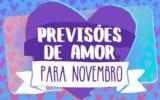 horóscopo do amor para novembro