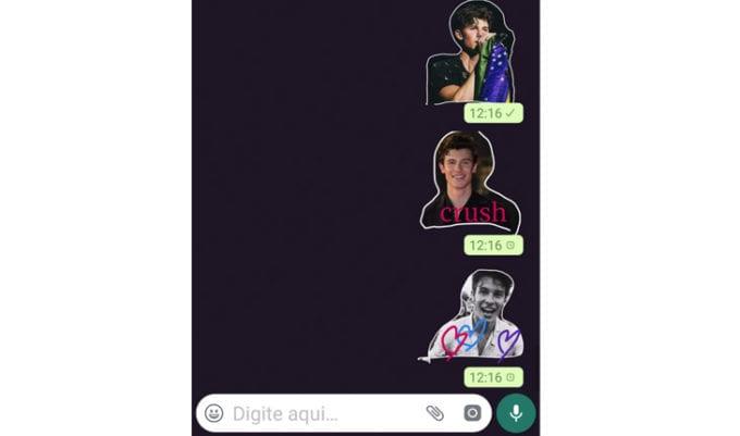 Prontinho!! Olha a fofura! Agora você sabe como criar figurinhas no WhatsApp!