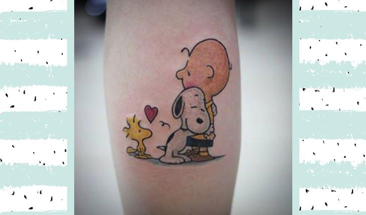 Peanuts tatuagem