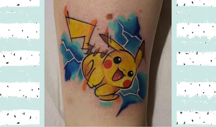 Pikachu tatuagem
