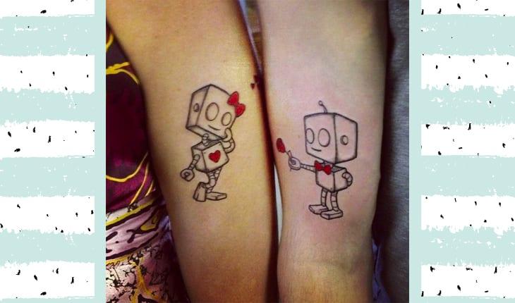Tatuagem de robô