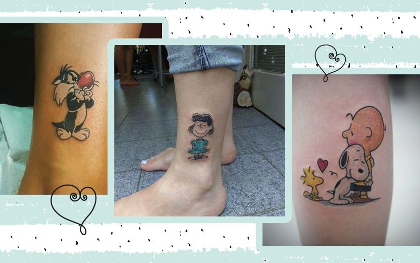 Tatuagem de desenho animado