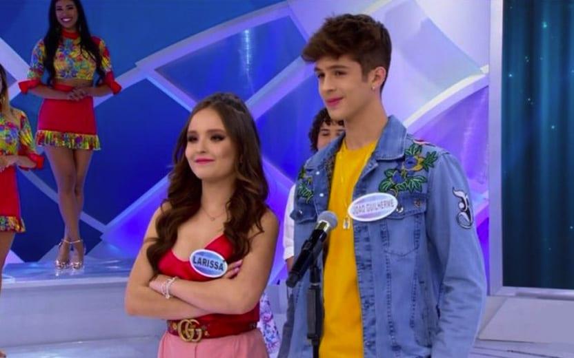 Larissa Manoela e João Guilherme participam de programa