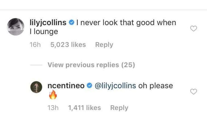 Noah Centineo e Lily Collins