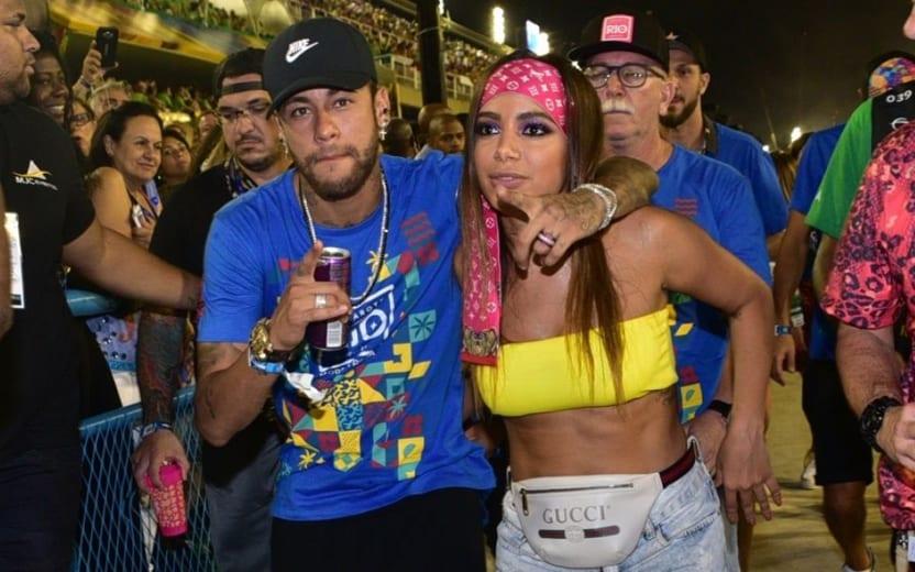beijo de Anitta e Neymar