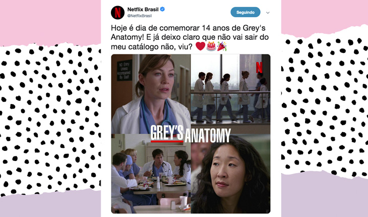 Grey's Anatomy na netflix
