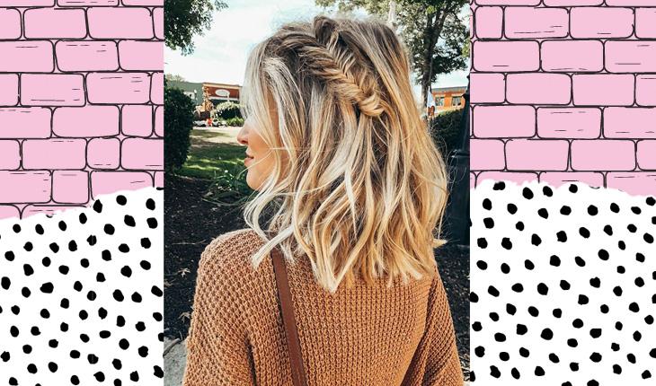 penteado para cabelo médio e curto