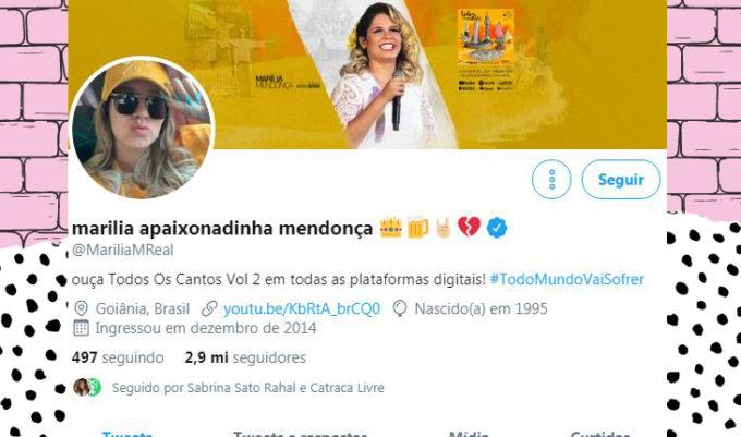 Marilia Mendonça no twitter