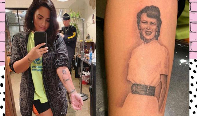 nova tatuagem de demi lovato