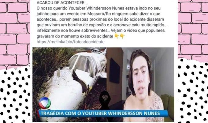 morte de whindersson nunes