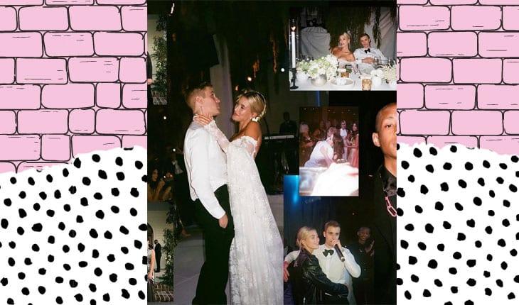 fotos do casamento do Justin e Hailey Bieber