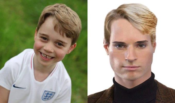 filhos da família real