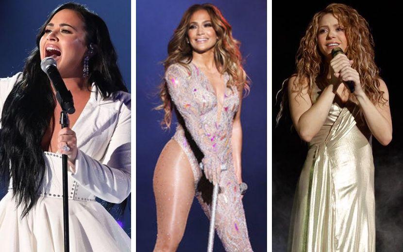 Super Bowl lançará álbum visual com performances de Demi Lovato, Shakira e Jennifer Lopez