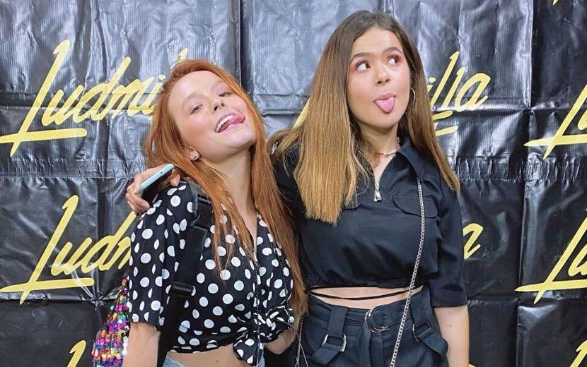 Larissa Manoela e Maisa no show da Ludmilla
