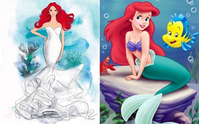 Sonho! Disney lança vestidos de noiva inspirados nas nossas princesas favoritas