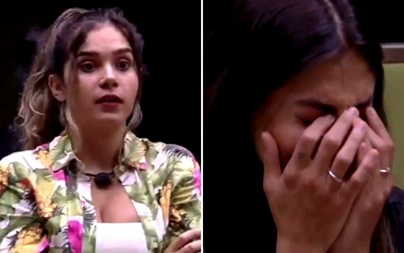 BBB20: após anúncio do coronavírus, Gizelly perde a noção e faz Mari chorar