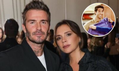 David Beckham tira sarro do sorriso da esposa, Victoria: 'É o Ross de Friends'