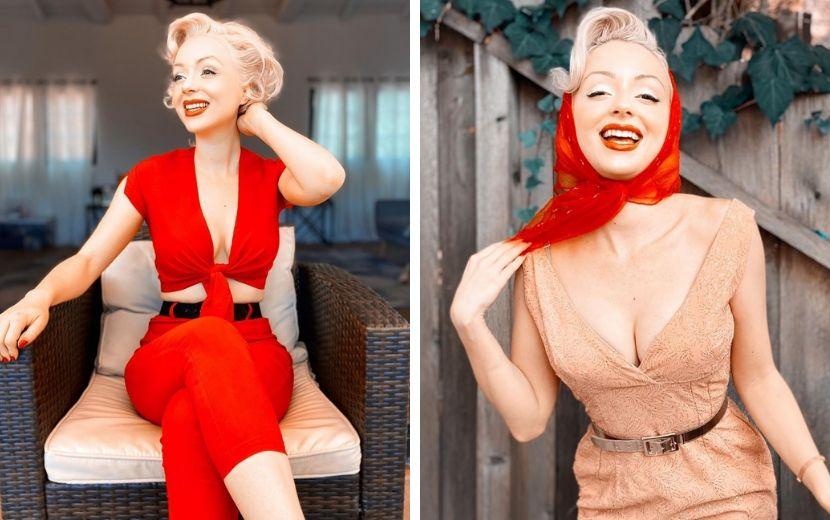 Curte a moda dos anos 50? Então você precisa ver os looks desta TikToker!
