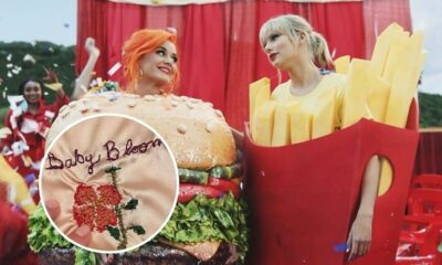 Taylor Swift presenteia filha de Katy Perry com mantinha bordada à mão
