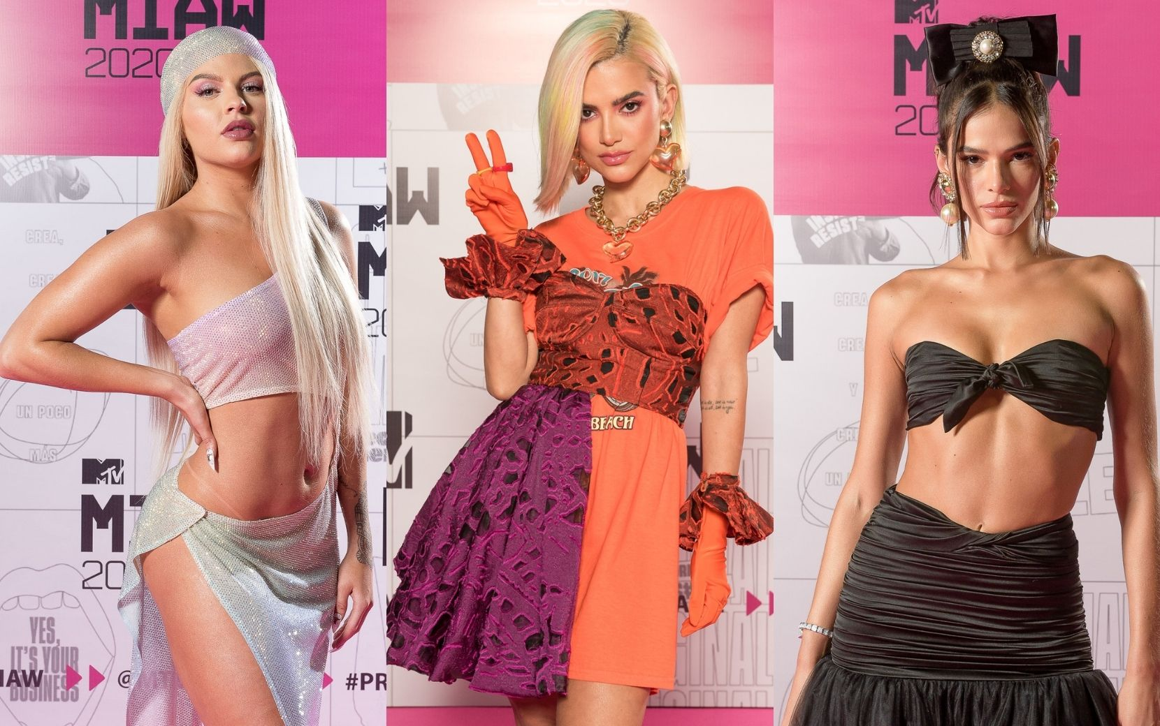 MTV MIAW 2020: os looks mais arrasadores do Pink Carpet
