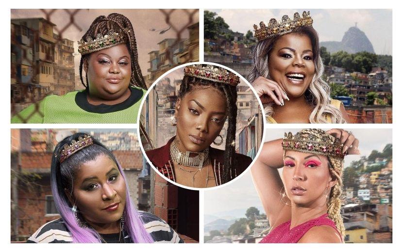 """Ludmilla homenageia MC Carol, MC Katia, Tati Quebra Barraco e Valesca Popozuda em imagens para """"Rainha da Favela"""""""