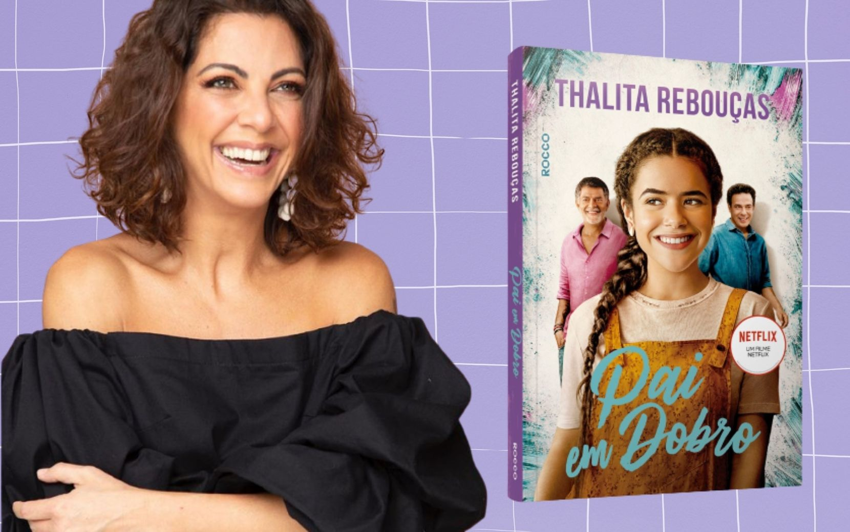 """Completando 20 anos de carreira, Thalita Rebouças lança novo livro """"Pai em dobro"""""""